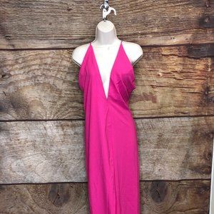 Asos Women's Size 4 Pink Strappy Maxi Dress New
